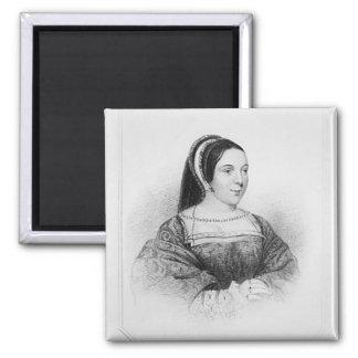 Portrait of Margaret Tudor  Queen of Scotland Square Magnet