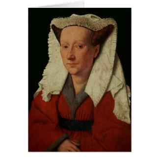 Portrait of Margaret van Eyck, 1439 Card