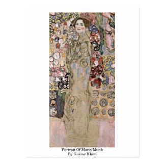 Portrait Of Maria Munk By Gustav Klimt Postcard