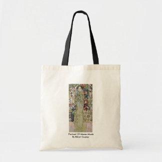 Portrait Of Maria Munk By Klimt Gustav Canvas Bags