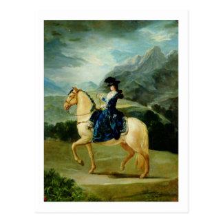 Portrait of Maria Teresa de Vallabriga on horsebac Postcard