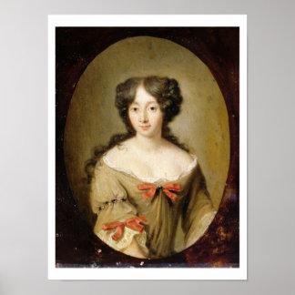 Portrait of Marie-Anne Mancini (1646-1714) c.1670 Poster