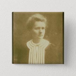 Portrait of Marie Curie 15 Cm Square Badge
