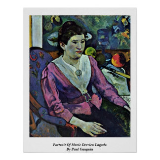 Portrait Of Marie Derrien Lagadu By Paul Gauguin Posters