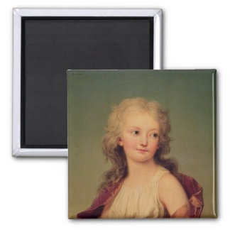 Portrait of Marie-Therese Charlotte of France Fridge Magnets