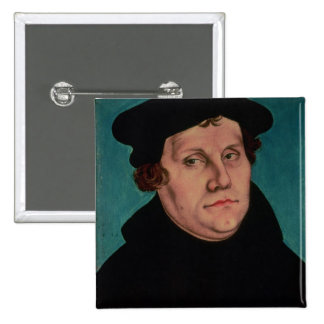 Portrait of Martin Luther, 1529 15 Cm Square Badge