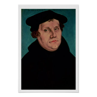 Portrait of Martin Luther, 1529 Poster