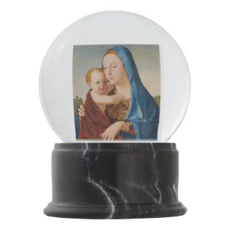 Portrait of Mary and Baby Jesus Snow Globes