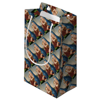 Portrait of Mary Holding  Baby Jesus Small Gift Bag