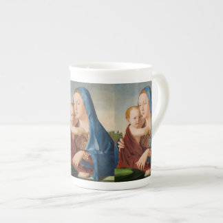 Portrait of Mary Holding  Baby Jesus Tea Cup