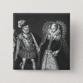 Portrait of Mary Queen of Scots 15 Cm Square Badge