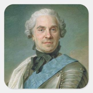 Portrait of Maurice  Comte de Saxe Square Sticker