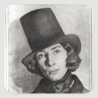 Portrait of Maurice Sand Square Sticker