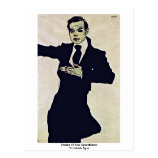 Portrait Of Max Oppenheimer By Schiele Egon Postcard
