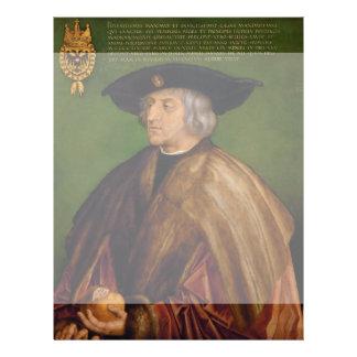 Portrait of Maximilian I by Albrecht Durer Full Color Flyer