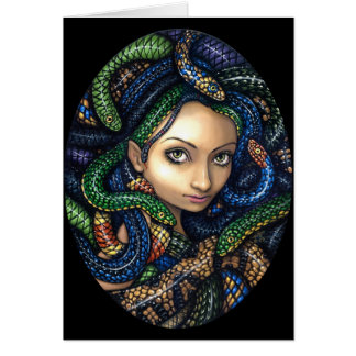 """Portrait of Medusa"" Greeting Card"