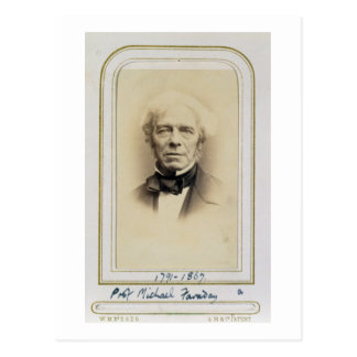 Portrait of Michael Faraday (1791-1867) (albumen p Postcard