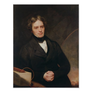 Portrait of Michael Faraday 1841-42 Print