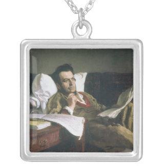Portrait of Mikhail Glinka Silver Plated Necklace