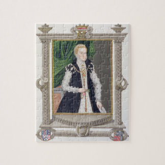Portrait of Mildred Cooke, Lady Burghley from 'Mem Jigsaw Puzzles