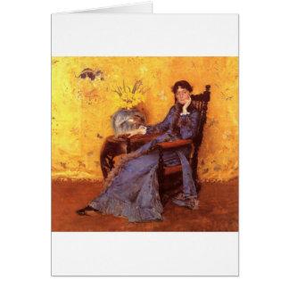Portrait of Miss Dora Wheele Card