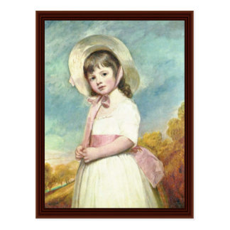 Portrait Of Miss Willoughby By George Romney Postcard