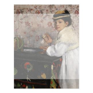 Portrait of Mlle Hortense Valpincon by Edgar Degas Personalized Flyer