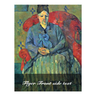 Portrait Of Mme Cézanne In A Red Armchair, Personalized Flyer
