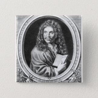 Portrait of Moliere 15 Cm Square Badge