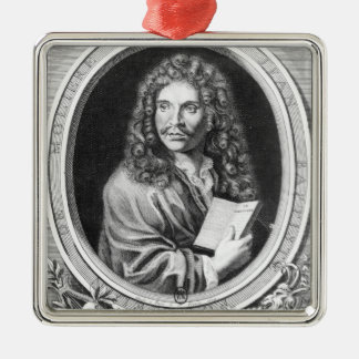Portrait of Moliere Metal Ornament