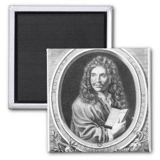 Portrait of Moliere Square Magnet