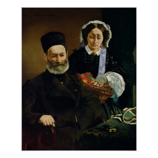 Portrait of Monsieur and Madame Auguste Manet Posters