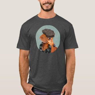 Portrait of Mr. Dachshund T-Shirt