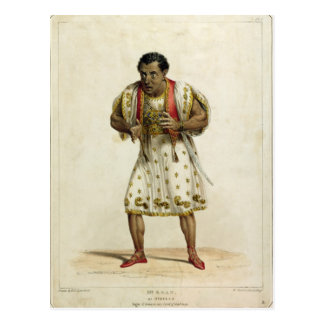Portrait of Mr Edmund Kean  as Othello Postcard