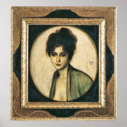 Portrait of Mrs. Feez by Franz von Stuck Print