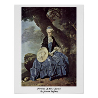 Portrait Of Mrs. Oswald By Johann Zoffany Print
