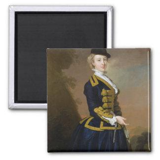 Portrait of Nancy Fortesque wearing a dark blue ri Square Magnet