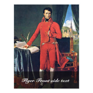 Portrait Of Napoleon Bonaparte As First Consul,  B 21.5 Cm X 28 Cm Flyer
