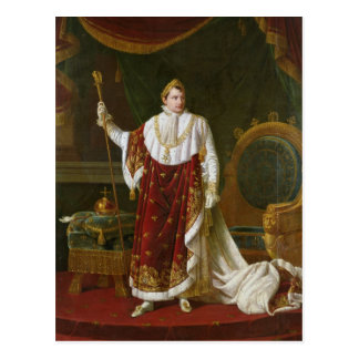 Portrait of Napoleon  in his Coronation Robes Postcard