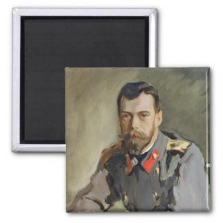 Portrait of Nicholas II, 1900 Magnets