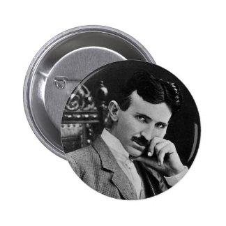 Portrait of Nikola Tesla 6 Cm Round Badge