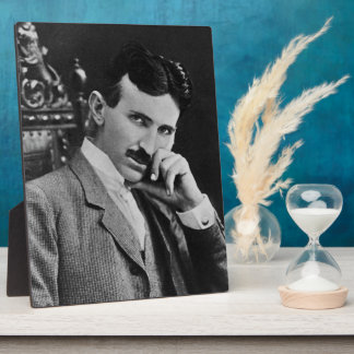 Portrait of Nikola Tesla Photo Plaques