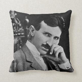 Portrait of Nikola Tesla Throw Cushion