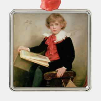 Portrait of Norman Stewart Davies Metal Ornament