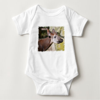 Portrait of okapi (Okapia johnstoni) Baby Bodysuit