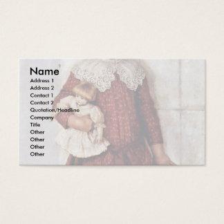 Portrait Of Olga Surikova Vasilyevna The Artist'S Business Card