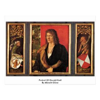 Portrait Of Oswald Krell By Albrecht Dürer Postcard