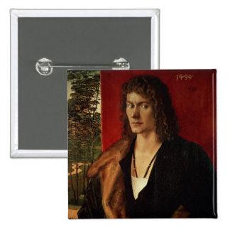 Portrait of Oswolt Krel, 1499 15 Cm Square Badge