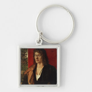 Portrait of Oswolt Krel, 1499 Silver-Colored Square Key Ring
