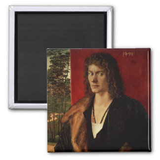 Portrait of Oswolt Krel, 1499 Square Magnet